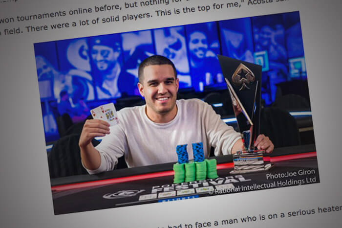 Acosta Wins Inaugural PokerStars Festival New Jersey For $38K