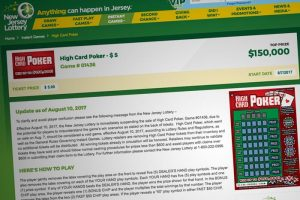 Bad Beat: New Jersey Lottery Pulls 'High Card Poker' Game After Just Three Days