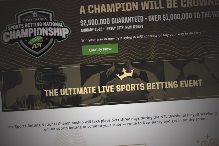 DraftKings Sportsbook Reveals $2.5 Million Sports Betting National Championship In NJ