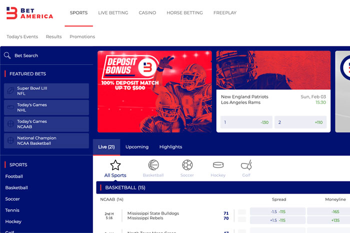 BetAmerica Slides Into NJ Sports Betting, Online Casino Just Ahead Of 2019 Super Bowl