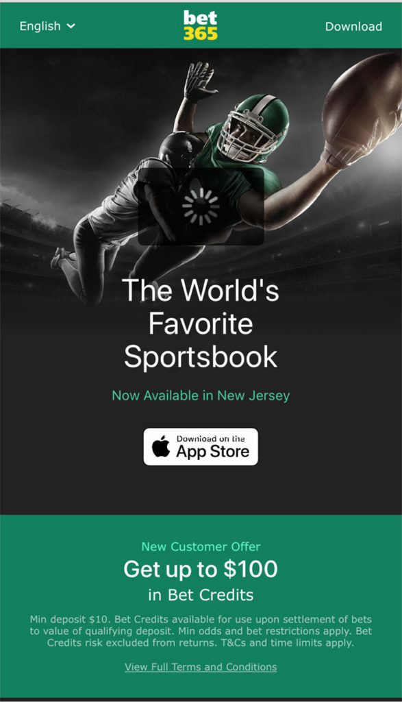 apple app bet365 nj sportsbook