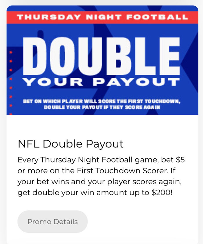 betamerica double payout nfl betting