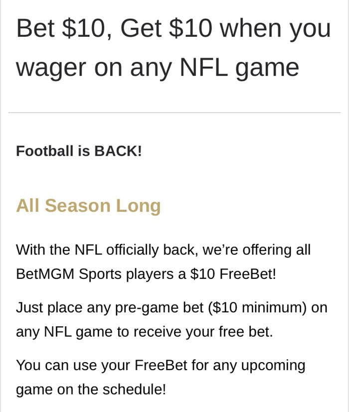 betmgm nfl betting