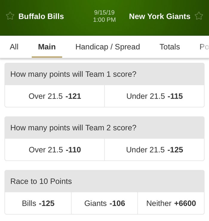 betmgm ny giants nfl betting