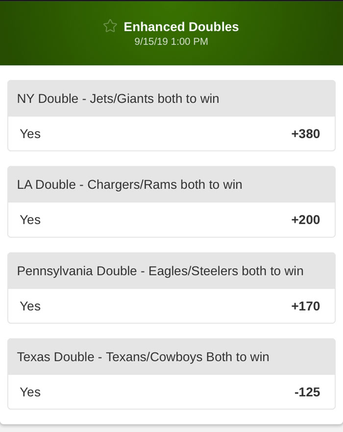betmgm team parlays nfl