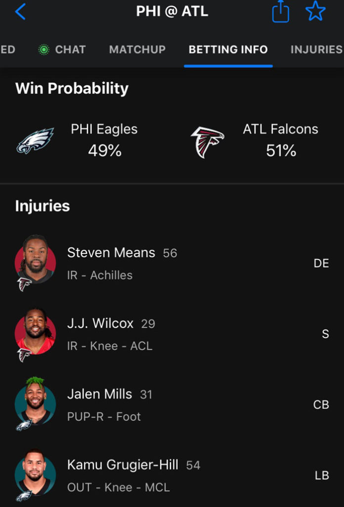 eagles falcons thescore sportsbook nj