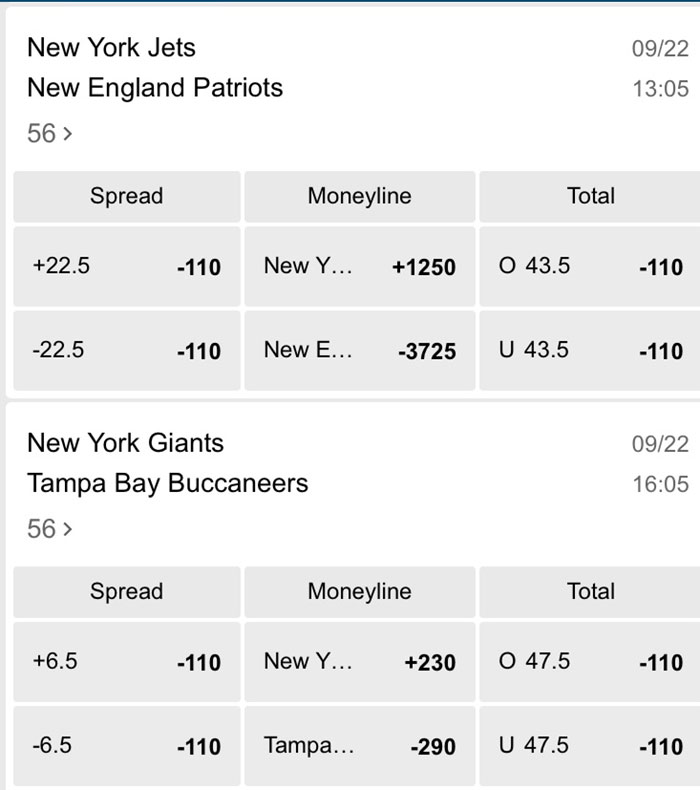 nfl week 3 odds resorts nj sportsbook