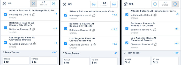teaser spreads fanduel nfl betting