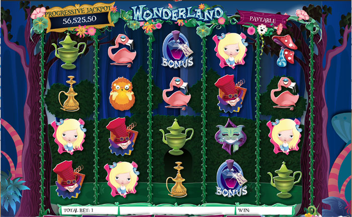 wonderland slot game nj online casinos