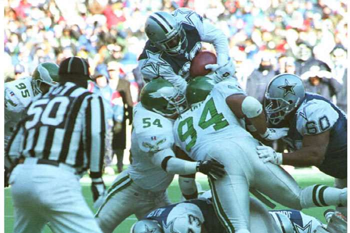 emmitt smith cowboys eagles best games