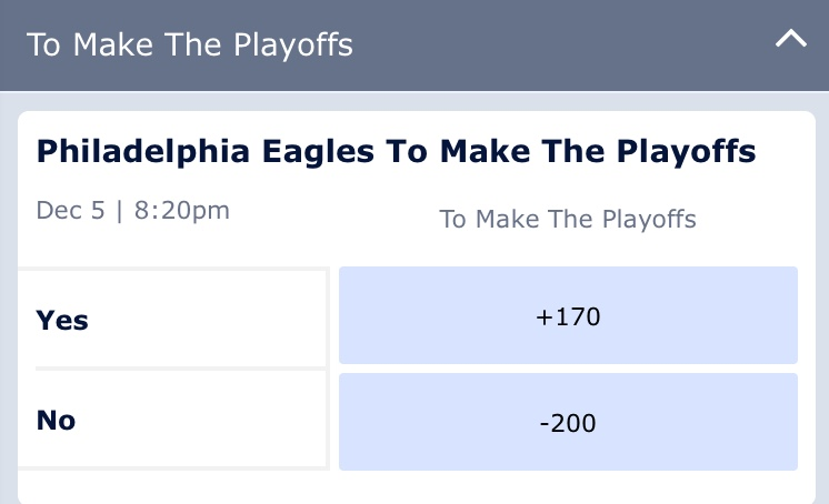 Eagles Giants William Hill Sportsbook