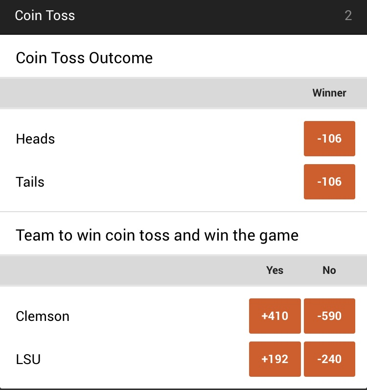 College football championship betting odds at NJ sportsbook