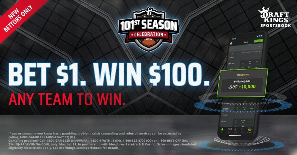 DraftKings 100-1 odds boost