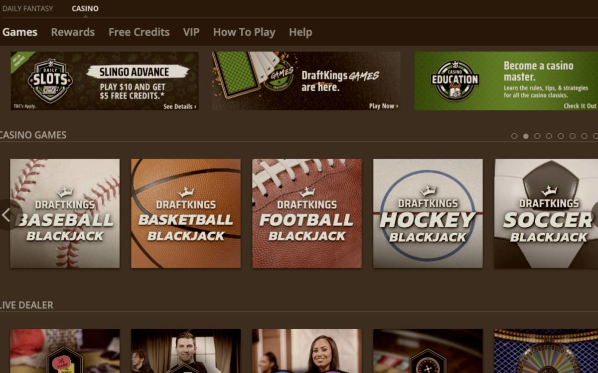 Five DraftKings Casino Games That Score Big With Sports Fans
